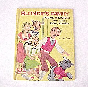1954 Kids Wonder Book Blondie's Family Dagwood Bumstead