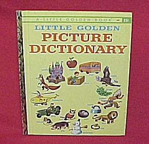 1959 Little Golden Book LGB Picture Dictionary School (Image1)
