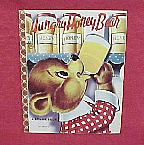 1956 Hungry Honey Bear - A Bonnie Book With Spin Wheel