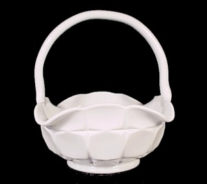 Westmoreland Milk Glass Ashburton 6 In Basket Vintage