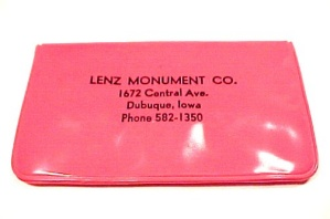 Dubuque Iowa Lenz Monument Advertising Collectible Promo Gift Souvenir