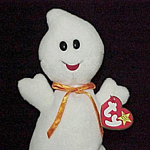 Ty Beanie Baby Spooky The Ghost 1995 Halloween Toy Tags