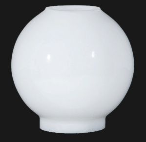 Lamp Shade Miniature Milk Glass Ball Gone With Wind Mini Globe AS IS (Image1)