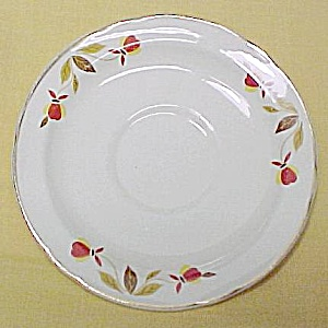 Hall China Autumn Leaf Jewel Tea T Saucer Vintage (Image1)