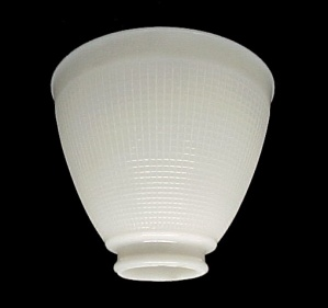 IES Reflector Lamp Shade Milk Glass Waffle 2 1/4 X 6 Corning (Image1)