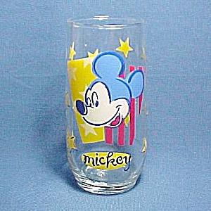 Mickey Mouse Disney Drinking Glass Tumbler Disneyana