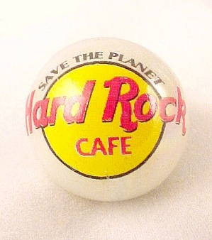 Hard Rock Cafe Marble Logo Pearlized Glass NEW (Image1)