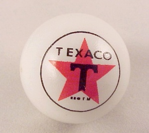 Texaco Star Gas Gasoline Logo White Glass Marble New (Image1)