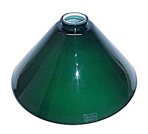 Italian Blue Green Cone 2.25 X 12 Pendant Light Shade Cased Glass (Image1)