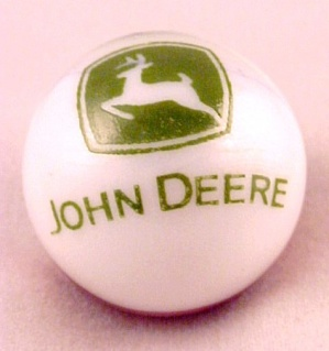 John Deere Tractor Farm Equipment Glass Marble Marbles