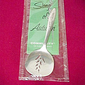 Oneida Silver Plated Song Of Autumn Sugar Sifter New
