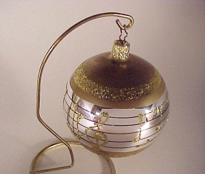 Glass Christmas Tree Ornament Musical Score Notes Music (Image1)