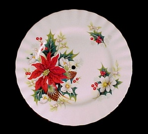 Royal Albert Bone China Poinsettia 6 Inch Tidbit Plate