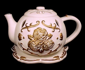 Partylite Tea Time Tealight Teapot Pot Candle Holder (Image1)