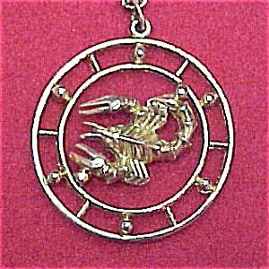 Celebrity NY Scorpio Zodiac Sign Circle Pendant 30 in Chain (Image1)