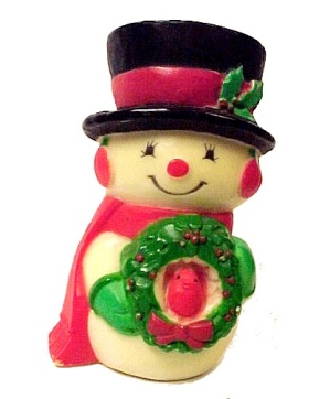 1974 Hallmark Merry Mini Miniature Snowman Christmas Ornament (Image1)