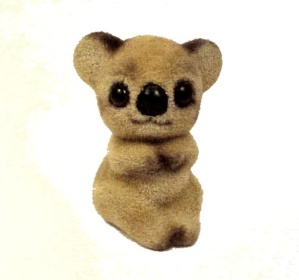 Josef Originals Flocked Koala Bear Figurine Figure