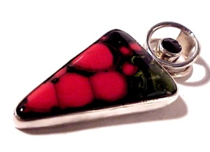 Sterling Silver Star Diopside & Art Glass Pendant Charles Albert (Image1)