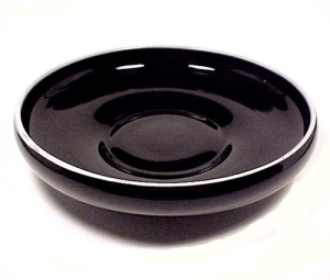 Depression Black Milk Glass 9.5 Inch Low Console Bowl