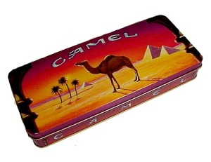 1993 Camel Cigarette Tin Vintage Advertising Joe Cool (Image1)