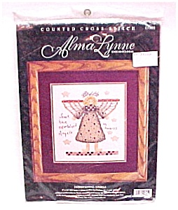 Alma Lynne Counted Cross Stitch Kit Angel UnAwares (Image1)