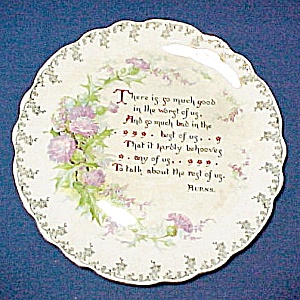 Thistle Motto Plate Burns So Much Good in Worst of Us Much Bad in Best (Image1)