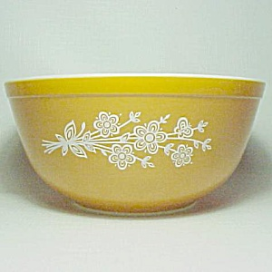 Pyrex Gold Butterfly 2.5 Qt Mixing Bowl 403 Vintage (Image1)