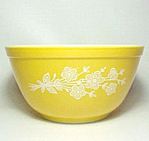 Pyrex Gold Butterfly 1.5 Qt Mixing Bowl 402 Vintage (Image1)