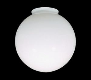4 X 8 X 7 3/4 Ball Globe Ceiling Fan Light Shade White Glass (Image1)