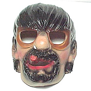 Halloween Mask Scary Motorcycle Biker Man Cigar Vintage