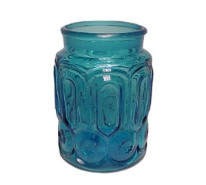Le L E Smith Blue Moon & Stars Sugar Canister Jar Only
