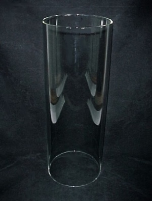 Cylinder 6 X 14 in Tube Glass Light Lamp Shade Candle Holder (Image1)
