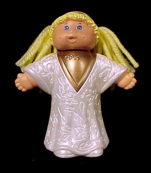 1992 Cabbage Patch Kid Christmas Angel Figurine Figure Miniature (Image1)