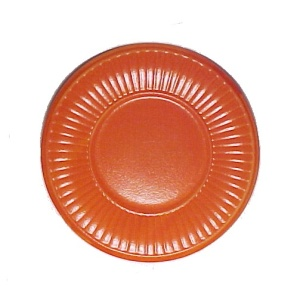 Red Wing Reed 8.5 in Salad Plate Orange Vintage Pottery (Image1)