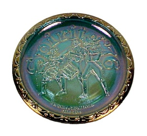 Indiana Blue Carnival Glass Plate Spirit of 76 Vintage 4th of July (Image1)