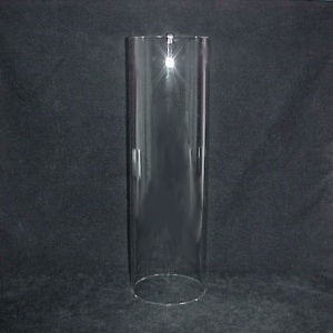 Tube Cylinder Light Lamp Shade Glass 4 3/8 X 13 3/4 Candle Holder Wall (Image1)