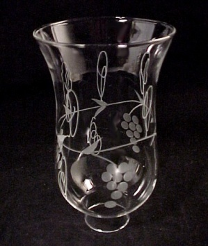 Clear Cut Glass 1 5/8 X 6.5 Hurricane Lamp Shade Grape