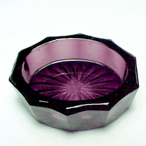 Amethyst Glass Oval Open Salt Dip Cellar Dish Salter (Image1)