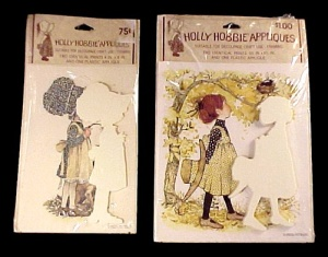 2 Holly Hobbie Decoupage Craft Applique Kit Set Vintage (Image1)