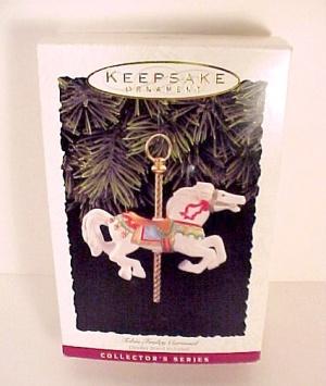 1993 Hallmark Tobin Fraley Carousel Christmas Ornament (Image1)
