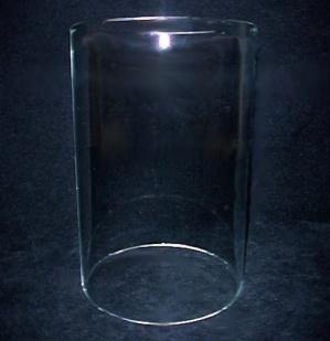 Cylinder 3 3/8 X 5 Tube Light Shade Glass Lamp Candle Holder Pendant  (Image1)