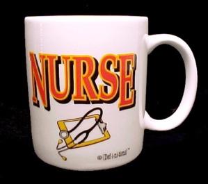 Nurse China Porcelain Coffee Mug Cup Stethoscope (Image1)