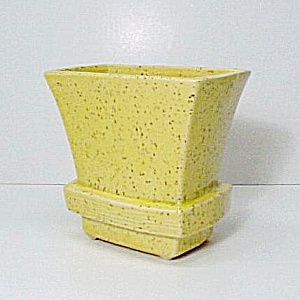 McCoy American Art Pottery Yellow Vase Planter Vintage (Image1)