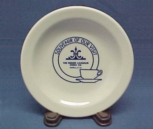 Homer Laughlin China Logo Advertising Souvenir Plate