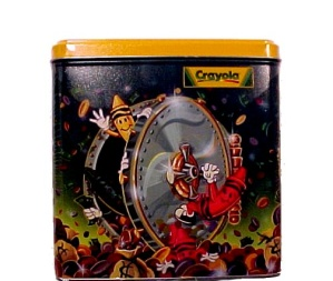 2000 Crayola Advertising Tin Creativity Bank New n Wrap (Image1)