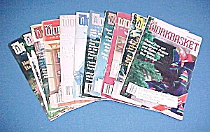 Lot of 11 Workbasket Magazines Knit Crochet 1985 - 1988 (Image1)