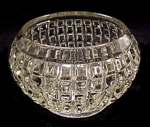 Imperial Waffle Rose Bowl Vase Elegant Depression Glass (Image1)