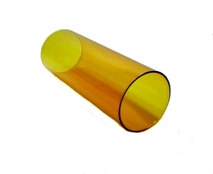 Glass Tube Cylinder Light Shade 3 X 8 Candle Holder Lamp Amber Yellow  (Image1)