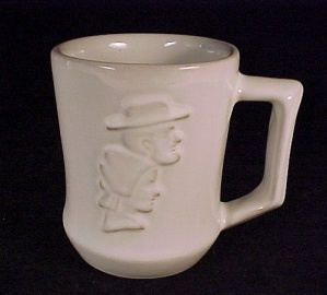 Frankoma Coffee Mug Cup Amish Man Woman Kalona Iowa Ia