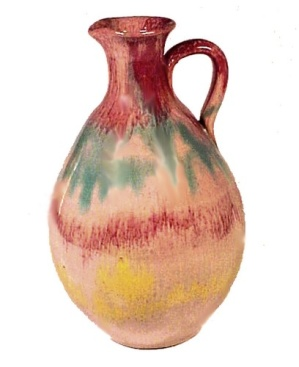 Vintage Cole NORTH CAROLINA Art Pottery Syrup Jug Vase (Image1)
